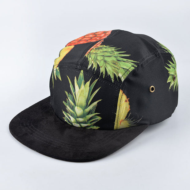 Pineapple Pattern Five Panel Cap