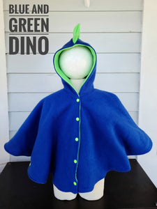 Size 4: Dino Poncho ( Blue and green)