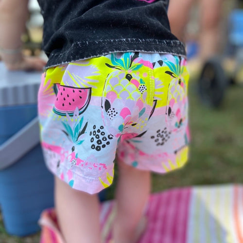 PINK SUMMER SURF SHORTS (Kids Sizes ONLY)