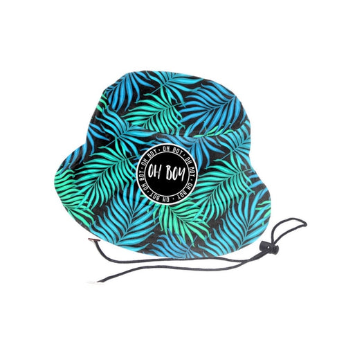 Coastal Beach Palm Bucket Hat (Kids)
