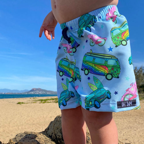 KAI KOMBI MINT SURF SHORTS (Kids, Youth & Adult Sizes)