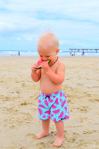 FLURO MELONS SURF SHORTS  (Kids Youth & Adult Sizes ONLY)