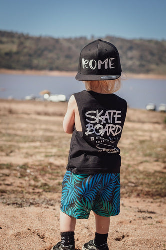 SKATEBOARD JUST RIDE COASTAL SURF (BLACK TANK)