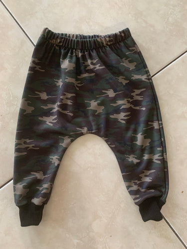 GREEN CAMO LONG HAREMS from $32