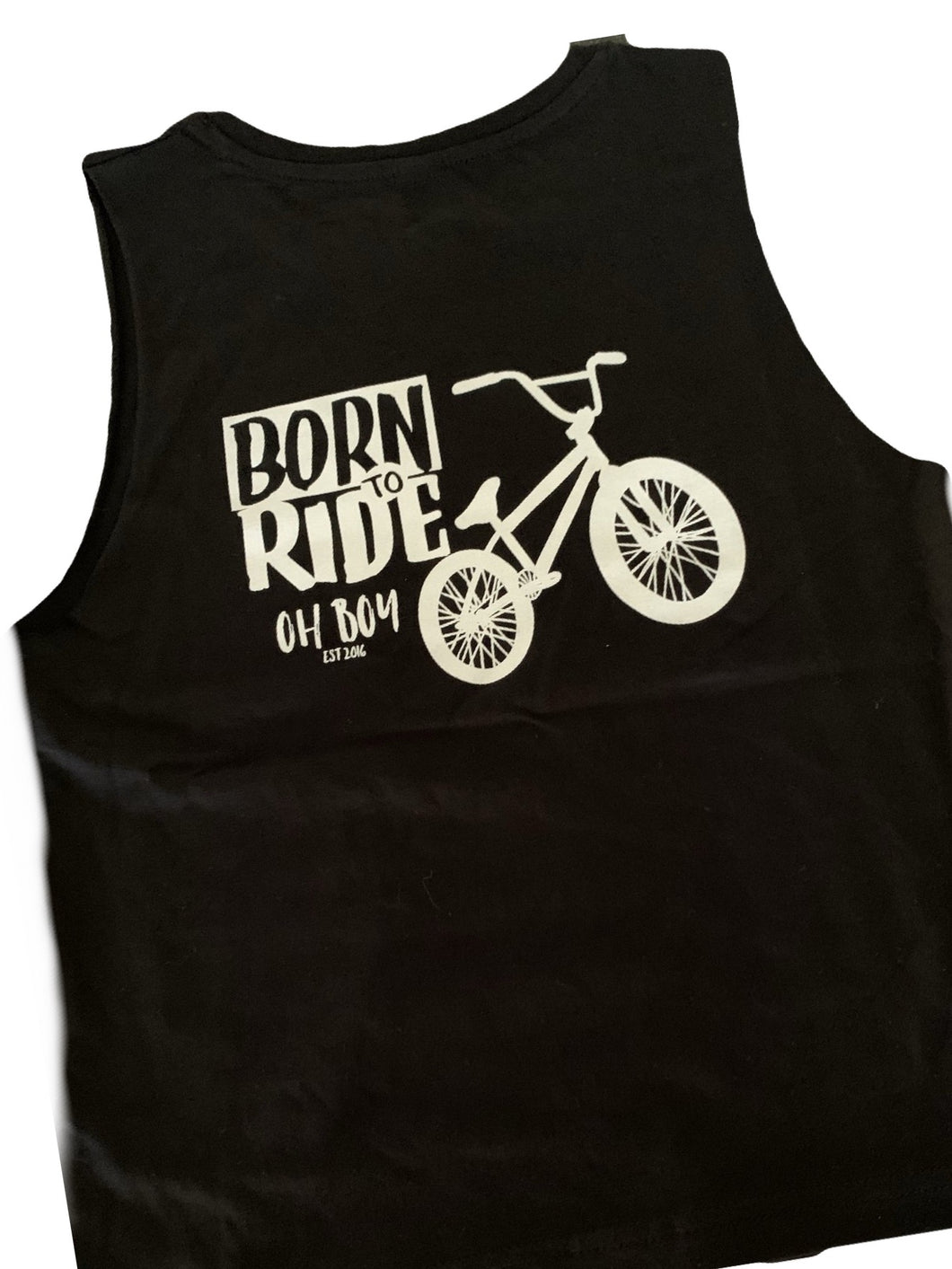 BORN 2 RIDE BMX BIKE WHITE PRINT