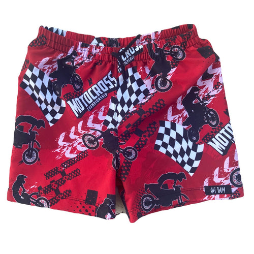 HONDA RED INSPIRED SURF SHORTS (Kids Sizes ONLY)