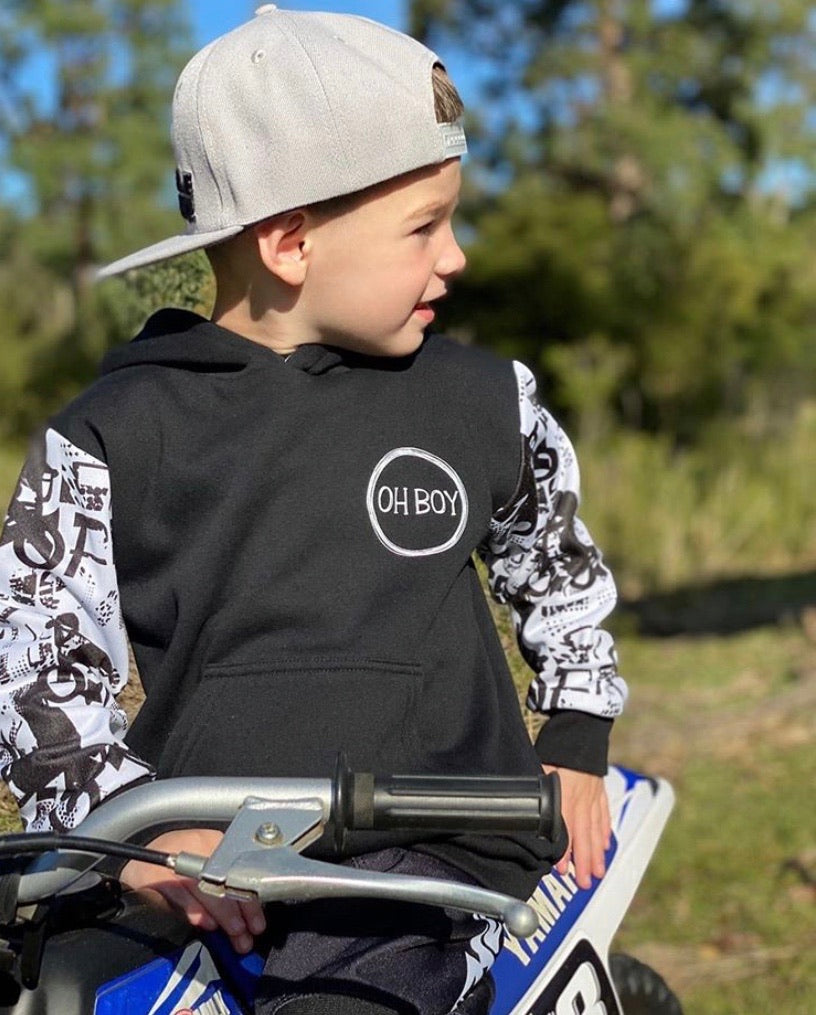 Monochrome Motocross Hoodie From $38