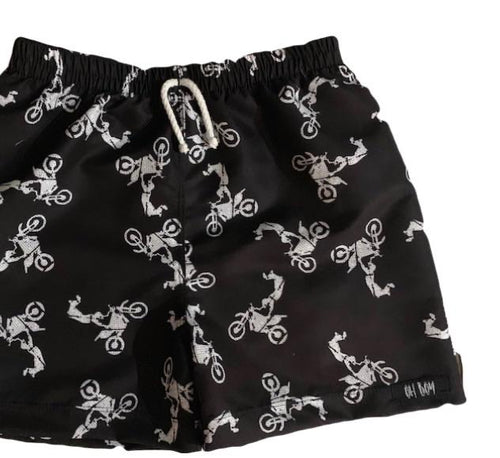 MOTOCROSS BLACK SURF SHORTS (Kids & Youth Sizes ONLY)