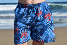 BRODIE BLUE PALMS SURF SHORTS (Kids, Youth & Adult Sizes)