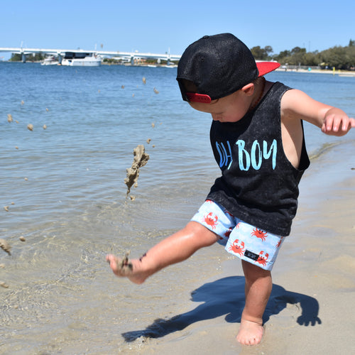 FLURO CRABS SURF SHORTS (Kids Sizes ONLY)