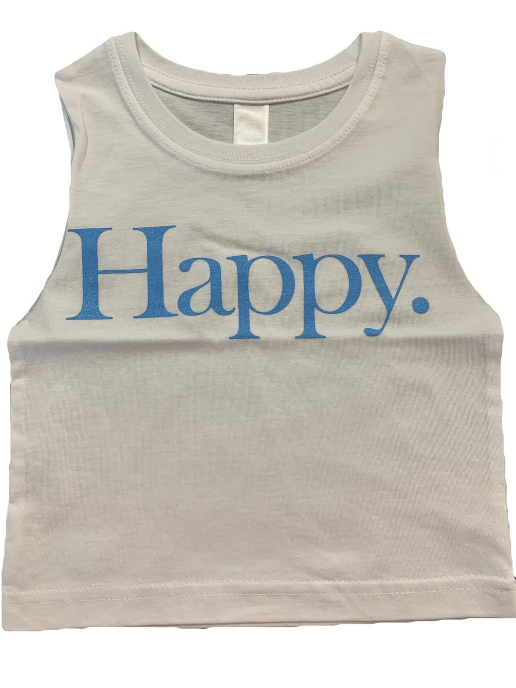 HAPPY (WHITE TANK)