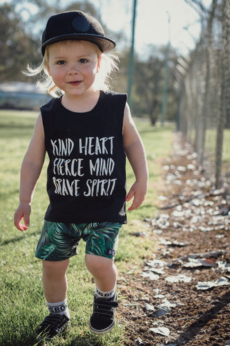 KIND HEART FEARCE MIND BRAVE SPIRIT (BLACK Tanks)