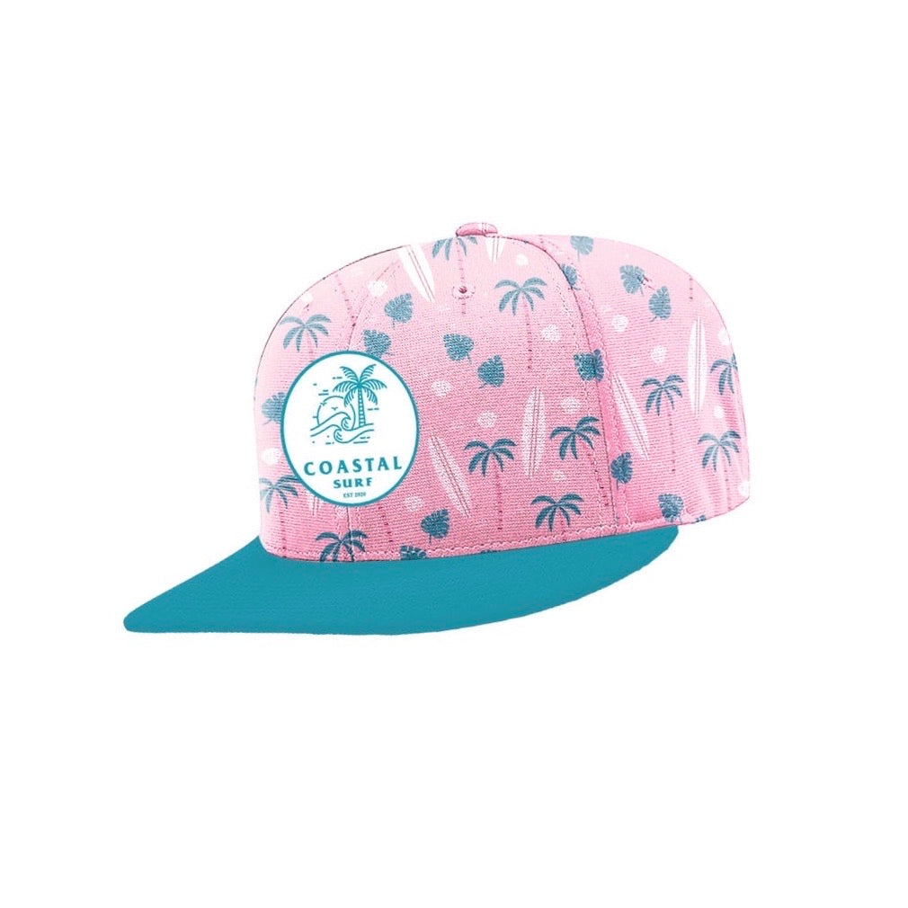 Pink Coastal Palm Cap (Kids)