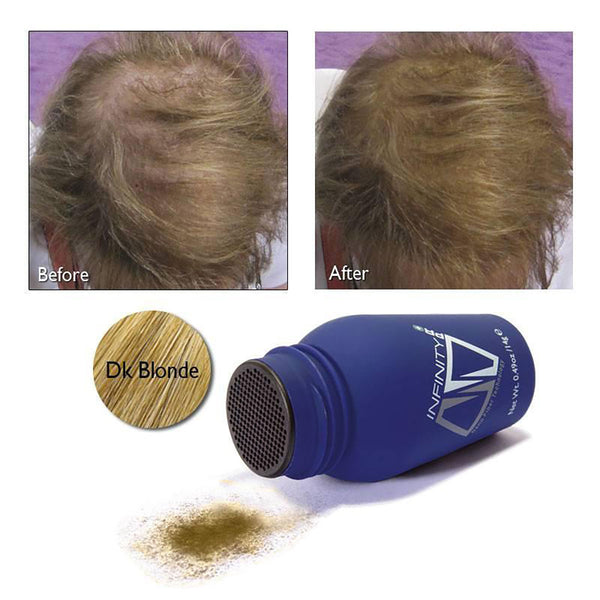Infinity Hair Fibers For Thinning or Balding Hair for Men and Women Travel Size 3 gram