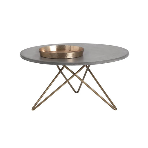 ABDERA COFFEE TABLE - ANTIQUE BRASS