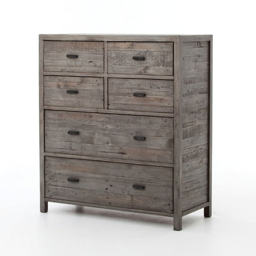 ACANTHA 6 DRAWERS CHEST-BLACK