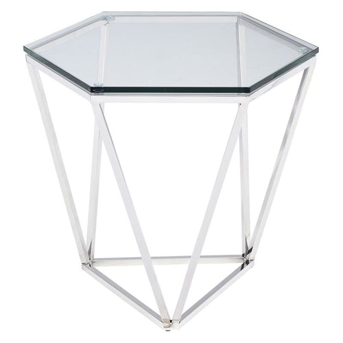 AEGAEUS SIDE TABLE STAINLESS