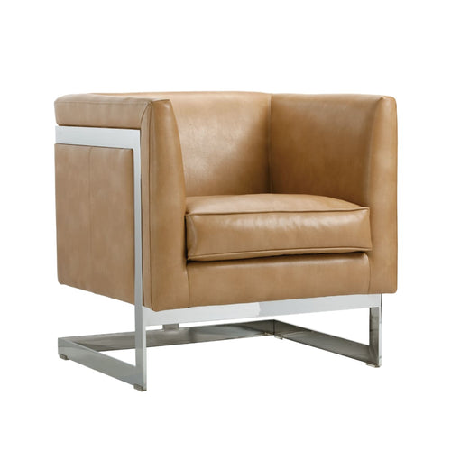 AIKEN ARMCHAIR PEANUT LEATHER