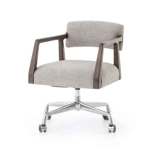 ALAIN DESK CHAIR IVES WHITE GREY