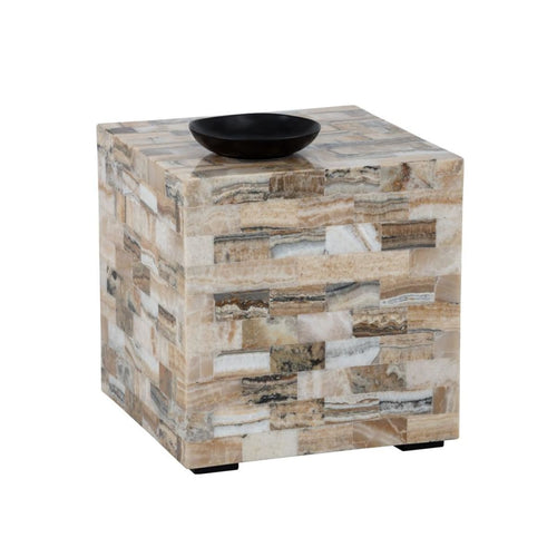 ALEGRA SIDE TABLE - STONE ONYX