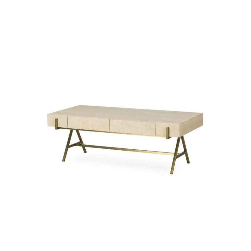 ALLYSON COFFEE TABLE- CREAM SHAGREEN - Coffee Table