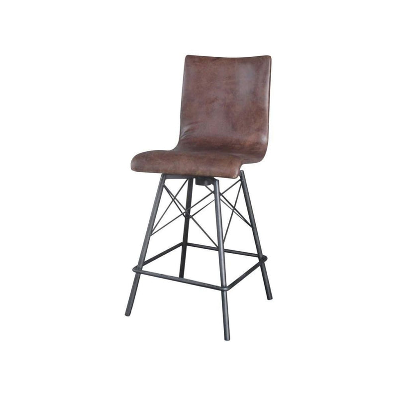 Alta Counterstool-Brogan Brown/Waxed Blk