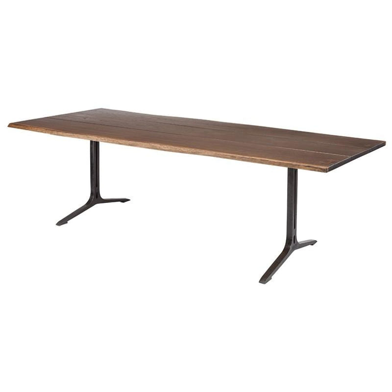 ANDREW DINING TABLE SEARED 96""