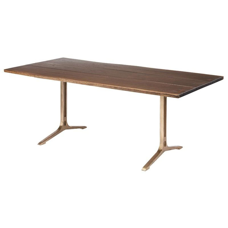 ANDREW DINING TABLE SEARED GOLD - DINING TABLE