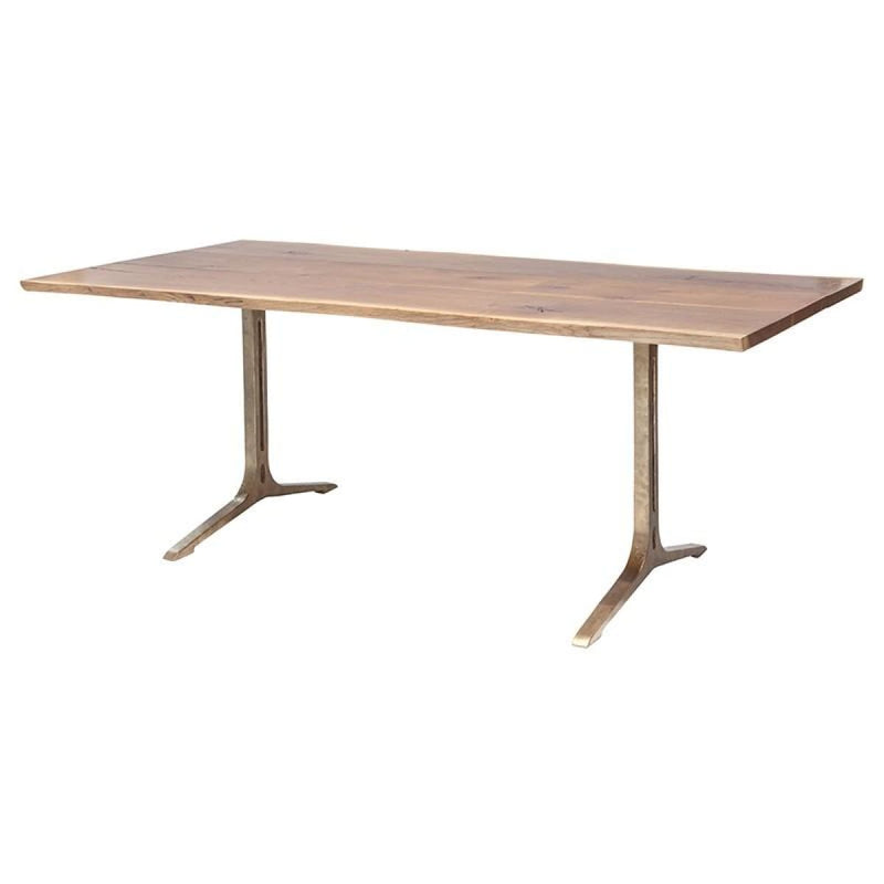 ANDREW DINING TABLE SMOKED - DINING TABLE