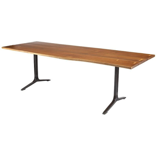 ANDREW DINING TABLE SMOKED BLACK - DINING TABLE