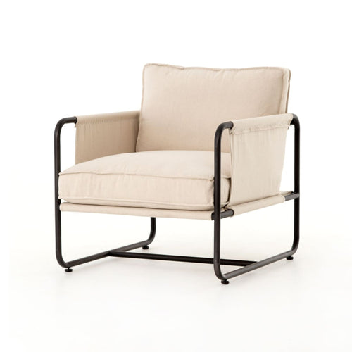 ARABEL CHAIR, Waxed Black, Harbor Natural