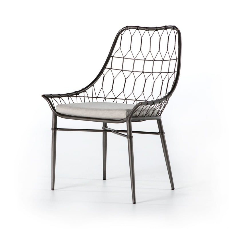 ARMON OUTDOOR DINING CHAIR: Silver River Vintage Metal - ACCENT CHAIR