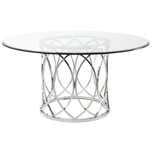 ASHER DINING TABLE CLEAR
