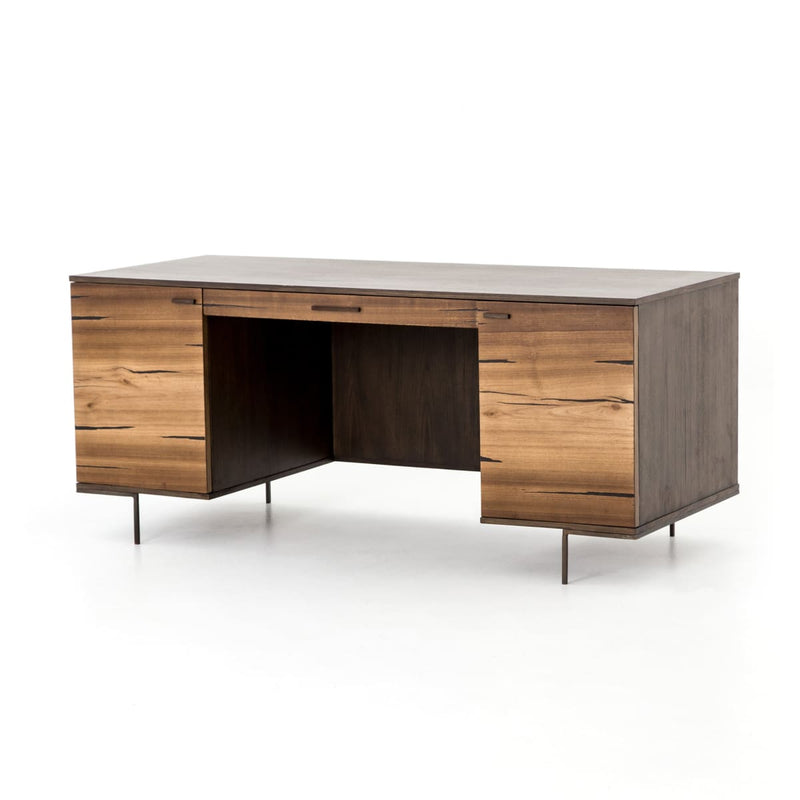 AXEL DESK, Natural Yukas, Bronzed Iron, Espresso Ash
