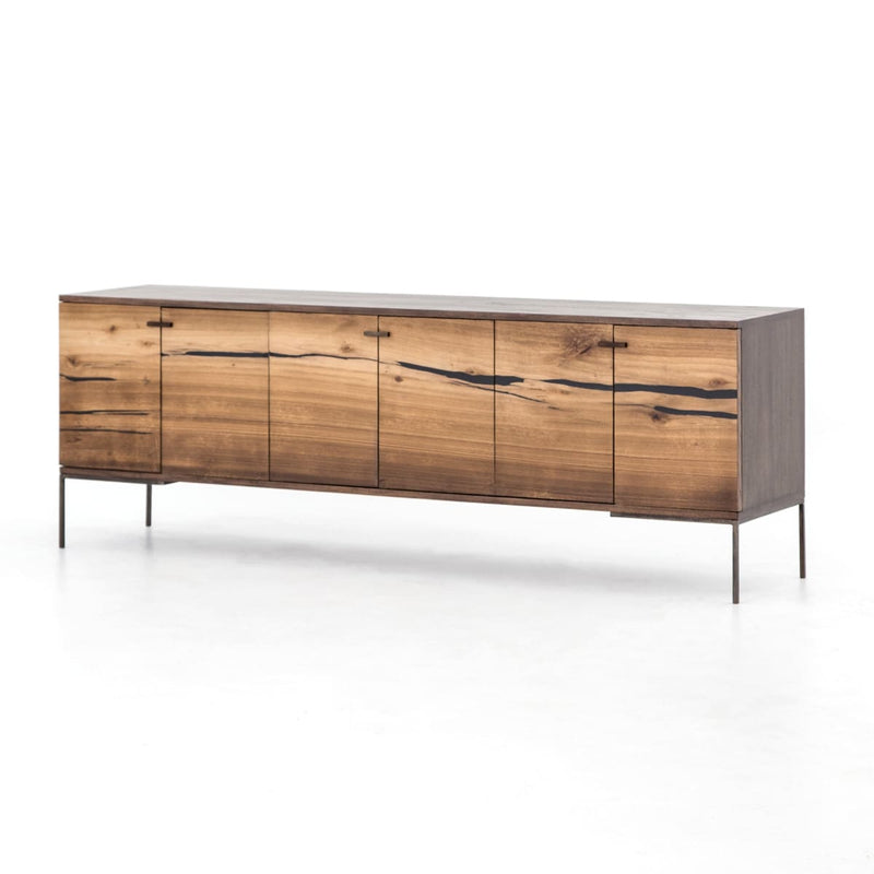 AXEL MEDIA CONSOLE NATURAL YUKAS, BRONZED IRON, ESPRESSO ASH