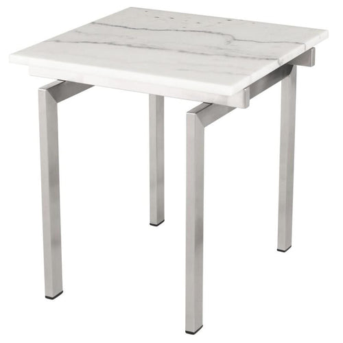 BALMORAL SIDE TABLE WHITE STAINLESS