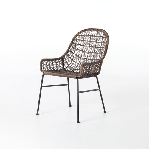 BANTERA OUTDOOR DINING CHAIR LOW ARM: Natural Black, Distressed Grey