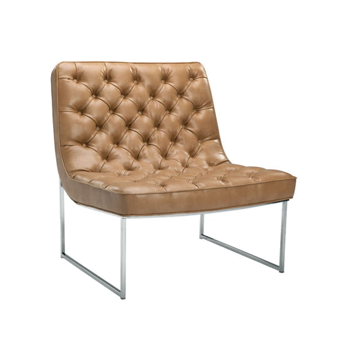 BARNARD CHAIR BROWN LEATHER