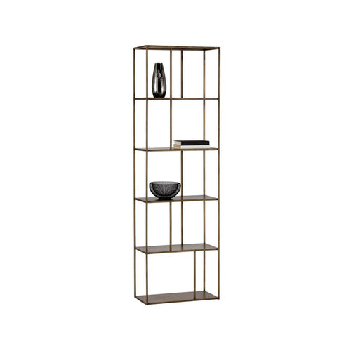 BELLE BOOKCASE - ANTIQUE BRASS - SMALL