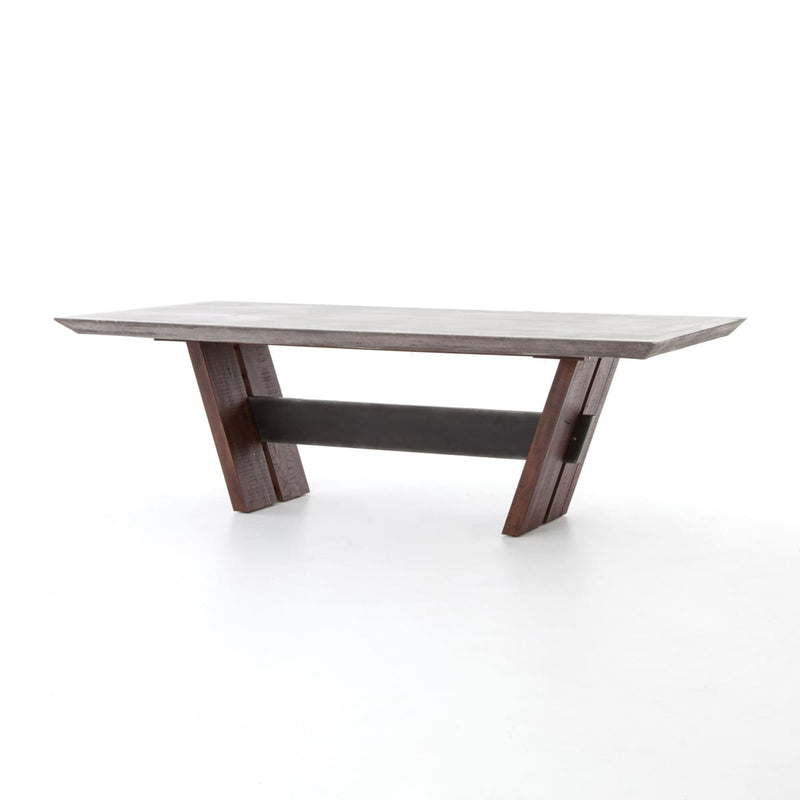 "BRANDON DINING TABLE 94"", Dark Grey"