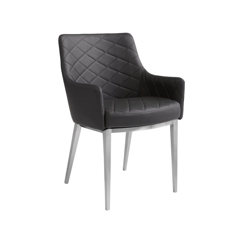 BRYSTON ARMCHAIR BLACK SET OF TWO