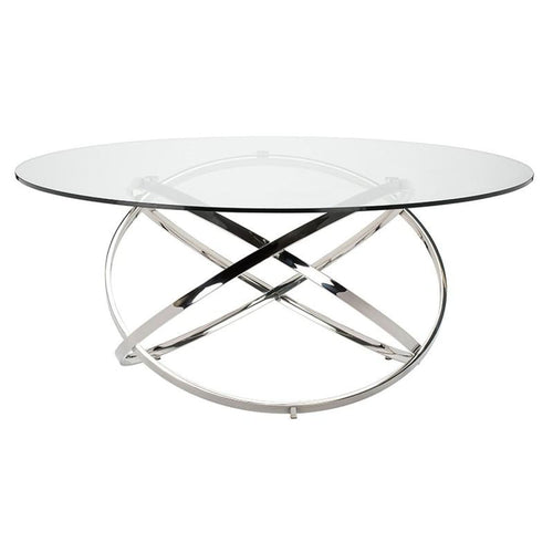 CALEB DINING TABLE CLEAR 59""