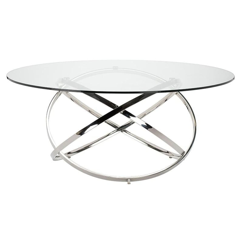 CALEB DINING TABLE CLEAR  72""