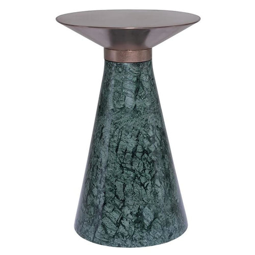 CELESTE SIDE TABLE COPPER GREEN MARBLE - Accent Table