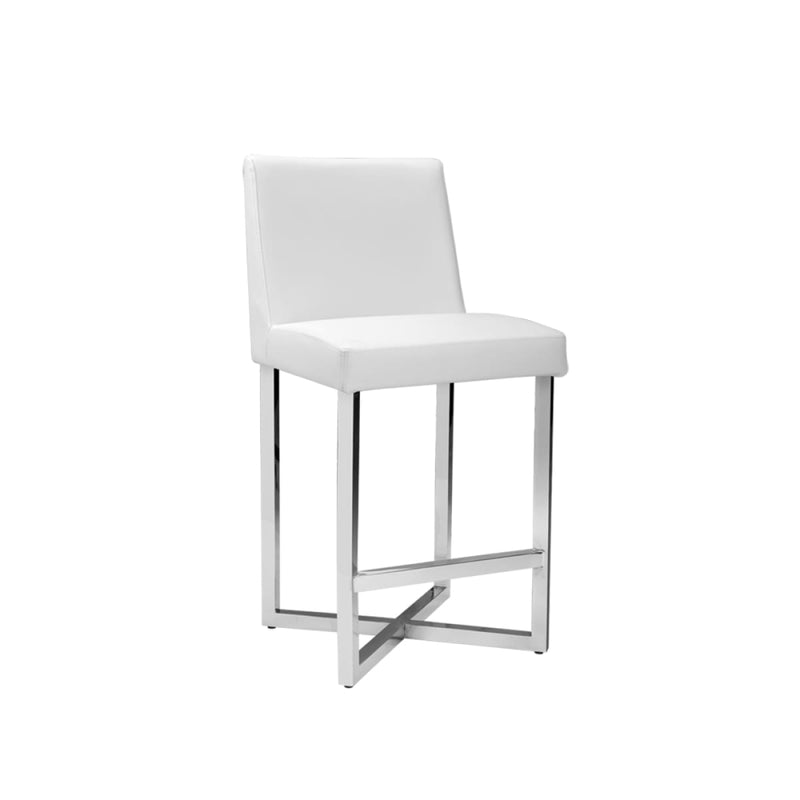 CHARLIZE COUNTER STOOL WHITE SET OF 2