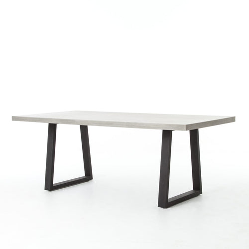 "COLIN 79"" DINING TABLE: Black, Light Grey"