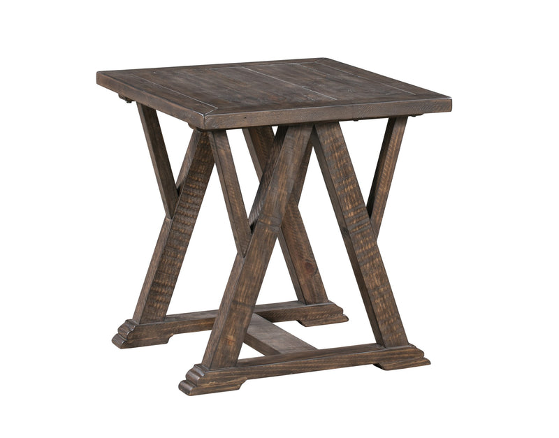 Pembroke Plantation Recycled Pine Tavern Finish Woodwork Square End Table