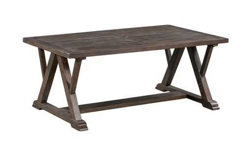 Pembroke Plantation Recycled Pine Tavern Finish Woodwork Rectangle Cocktail Table