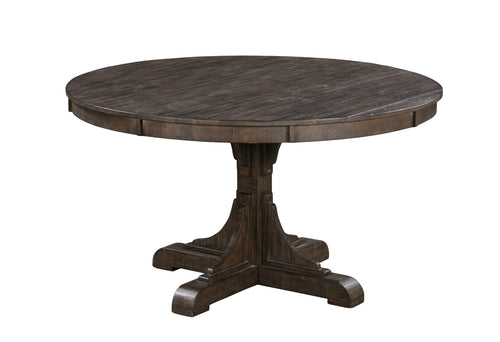 Pembroke Plantation Recycled Pine Tavern Finish Woodwork Base Round Dining Table