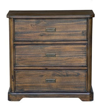 Hawthorne Estate Textured Acacia Heritage Finish 3 Drawer Chest
